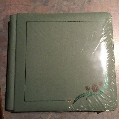 Creative Memories green Gumnut 7x7 Album Coverset WITH WHITE PAGES