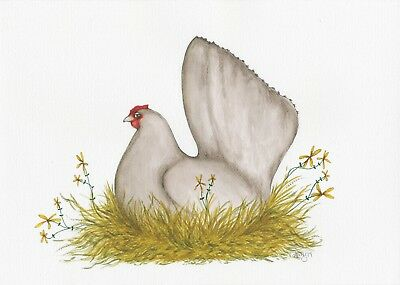 Little Hen Original Art Australian Artist