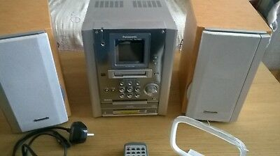 Panasonic CD Stereo System SC-PM25, Tape Cassette, CD Player and AM / FM Tuner