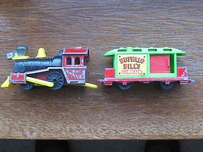 Corgi Wild West Locomotive & Buffalo Bill's Circus Carriage. No Box.