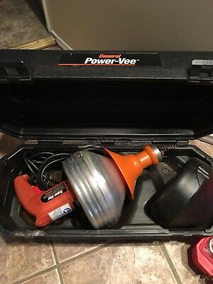 General Pipe Cleaners Super-Vee Drain Cleaning Machine - New w/Case No Box!