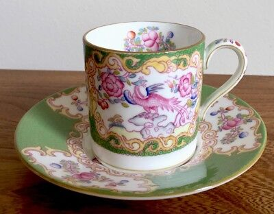 Modern Minton Cockatrice Coffee Can Set  1st Quality Up To 2 Available