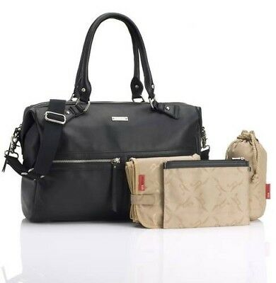 NWT Storksak Caroline Real Leather Diaper Changing Bag Baby Luxury Gift RRP £259