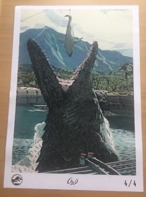 Official Jurassic World Fallen Kingdom Odeon Promo Film A3 Movie Poster 4/4
