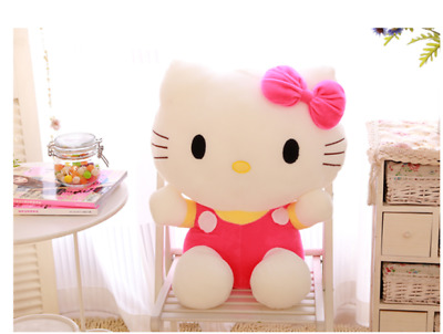 New Lovely Hot pink Hello Kitty Plush Soft Toys 8'' Stuffed Doll Kid Gifts 20 CM