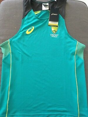 New Cricket Australia 2017/2018 Men's Training Singlet Size M