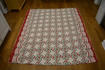 Vintage Antique Cherries Cherry Quilt Red and Green