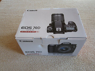 "Canon EOS 70D 20.2MP Digital SLR Camera with 18-55mm STM Lens - ""NEW"" SALE"