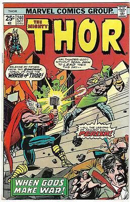 """1975. """"The Mighty THOR"""" Marvel comic #240. Bronze Age. VG."""