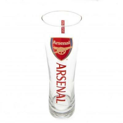 Arsenal F.C Tall Slim Pint Beer Glass Official Merchandise