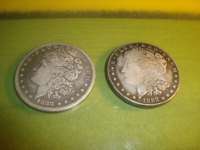 1888 & 1888-S  #2 Two Different MORGAN Silver Dollar Souvenir Faux USA Currency