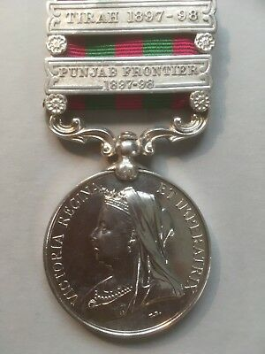 Original Victorian India General Service Medal 1896 - 2 bar to the KOYLI