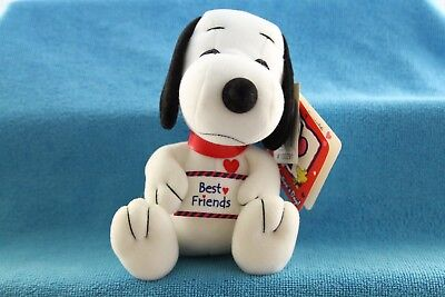 PEANUTS 50th Celebration Snoopy Valentine's Day Squeaky Baby Plush NWT