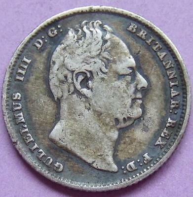 William llll - silver Sixpence 1834...........Ju187