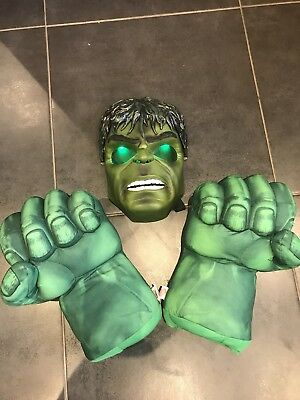 Marvel Incredible Hulk Smash Hands & Light Up Mask!!