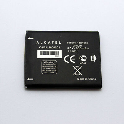 New OEM Alcatel One Touch Tracfone CAB3120000C1 3.7V Lithium Battery 850 mAh