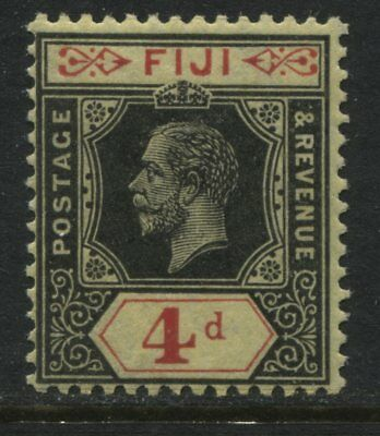 Fiji KGV 1914 4d black & red on yellow mint o.g.