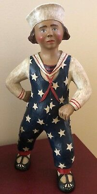 "Leo R Smith Large 14"" Stars & Stripes Sailor Limited Edition Figurine - CUTE"