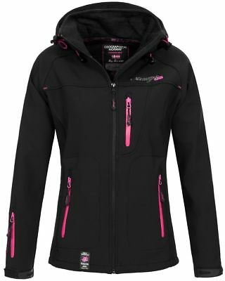 Geographical Norway Damen Softshelljacke Tfila schwarz M Outdoor Kapuze B-Ware