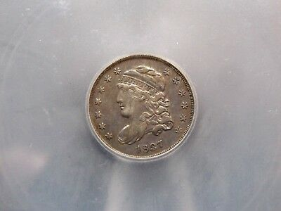 1837  Capped Bust Half Dime ICG XF45 EF45 .5c East Coast Coin & Collectables Inc