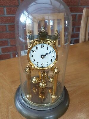 Antique German Anniversary Dome Clock Spares Or Repairs
