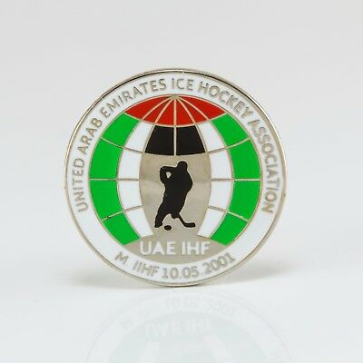 Ice Hockey Federation of UAE pin, badge, lapel, hockey