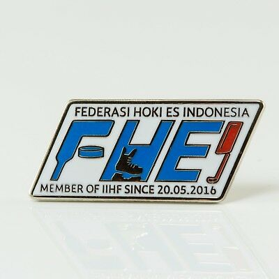 Ice Hockey Federation of Indonesia pin, badge, lapel, hockey