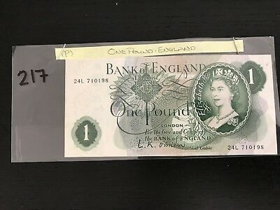 One pound bank of england note, based in US, average condition