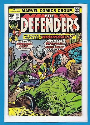 """The Defenders #19_January 1975_Very Fine_Wrecking Crew_""""doomball""""_Bronze Age!"""