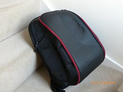 Wilson Federer Team Tennis Backpack - Black/Red Excellent Condition, Hardly Used