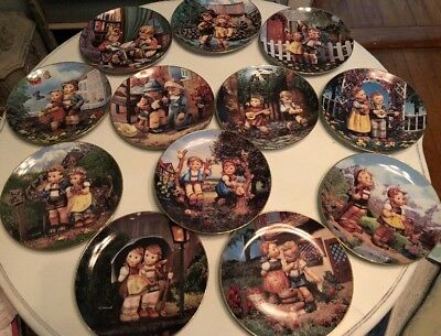 M.J. Hummel-Danbury Mint 'Little Companions' Complete 12 Plate Collection Mint!