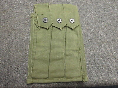 Vietnam War Us Gi M3 Grease Gun Smg Magazine Pouch-Excellent-Many Markings