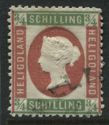 Heligoland QV 1873 3/4 schilling mint o.g. with fake cancel.