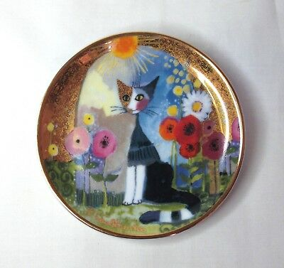 Goebel Rosina Wachtmeister Cats - Mini Plate / Pin Dish - Cat In Sunlight