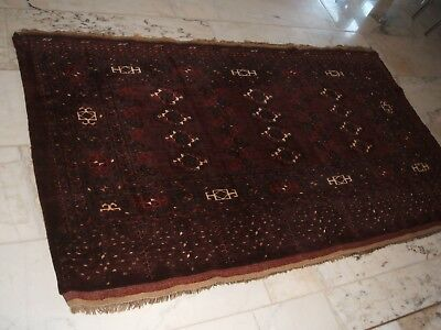 Old Afghan Chuval Bagface Rug Afghanischer Tschowal Tschoval Teppich Tappeto