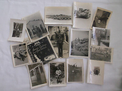 Lot of 14 Vintage B&W Photographs Military Germany Great Britain 1943, 1944