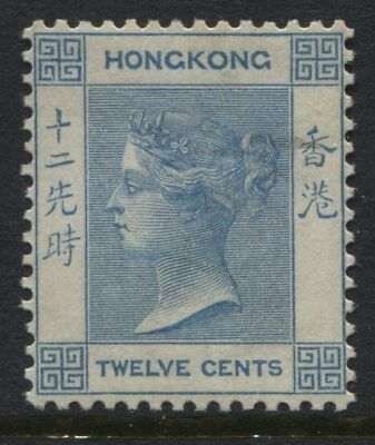 Hong Kong QV 1902 12 cents blue mint o.g.