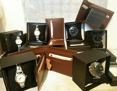 WHOLESALE JOB LOT Watches MENS SPIRIT DESIGNER STYLES GIFTS & LEATHER WALLETS