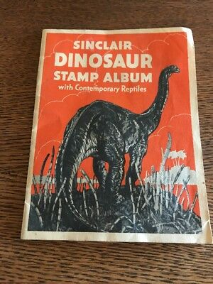 1935 Sinclair Dinosaur Stamp Album Oil & Gas Advertising Promo w Tyrannosaurus