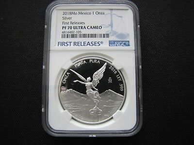 2018 1oz Silver Libertad Proof Coin NGC PF 70 Ultra Cameo First Release