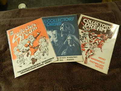 Awesome Rare Vintage 1977 COLLECTOR'S DREAM #1-3 Comic Book Fanzine Magazines