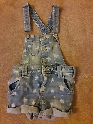 Cute Girls denim shorts playsuit age 6-7
