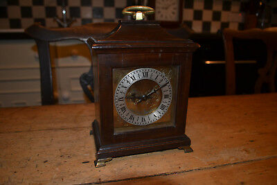 small brass faced bracket clock
