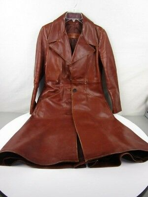 Vintage Walter Dyer Women's Brown Leather Trench Coat