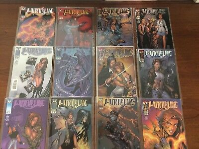 Lot Two of 12 WITCHBLADE Comics TOP COW IMAGE HIGH GRADE Micheal Turner COOL!