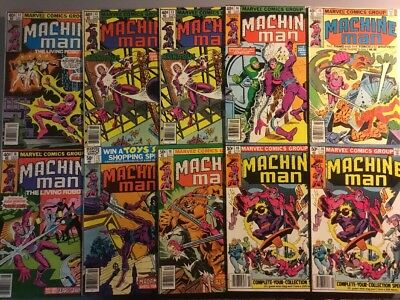 Machine Man The Living Robot 12 13 14 15 16 17 18 19 Marvel Comics Ditko 1978