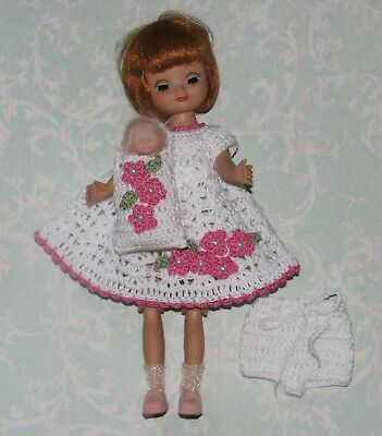 "Tiny 8"" Betsy McCall Dress & Dolly Set  #105"
