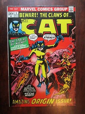 The Claws of the Cat 1  Origin & 1st App  Bronze Age Marvel Comic