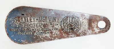 Vintage Advertisement Shoe Horn Stanley-Melvin Bootery-Peters Shoes-St. Louis MO