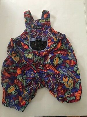 PATAGONIA Vtg Baby Toddler One Piece Overalls ocean summer Suit 18 M summer